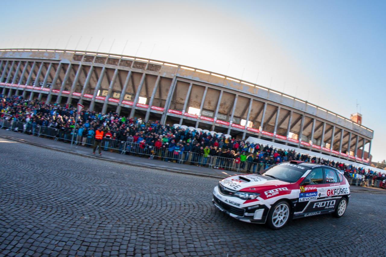Jarosław i Marcin Szejowie drugą najszybszą załogą Grupy N  Praskiego Rallysprintu