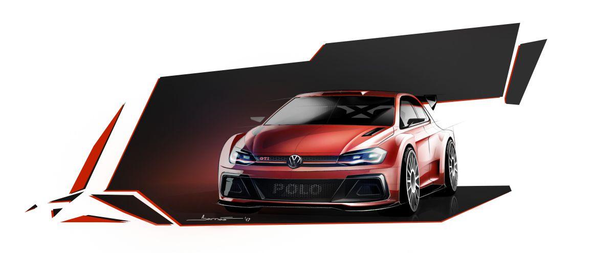 Volkswagen Polo GTI R5 - pierwszy szkic